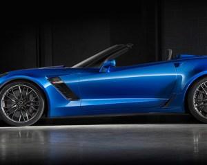 2016 Chevrolet Corvette Z06 Convertible Blue Side View