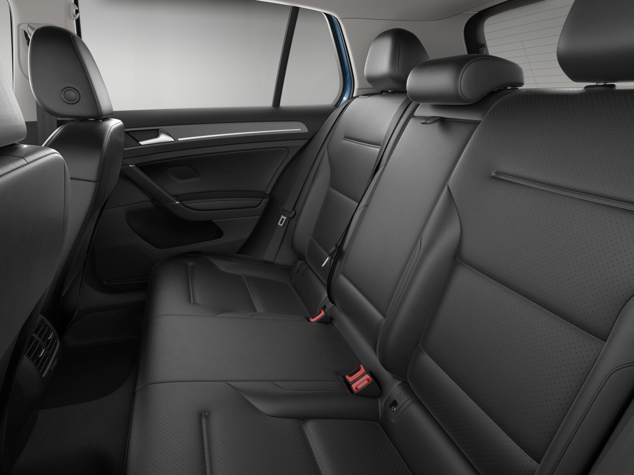 2016 Volkswagen e-Golf Rear Seats Interior