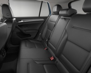 2016 Volkswagen e-Golf Rear Seats Interior
