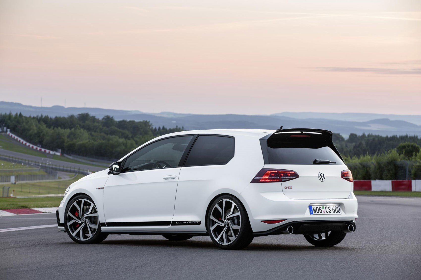 VW Golf GTI Clubsport Rear Side View