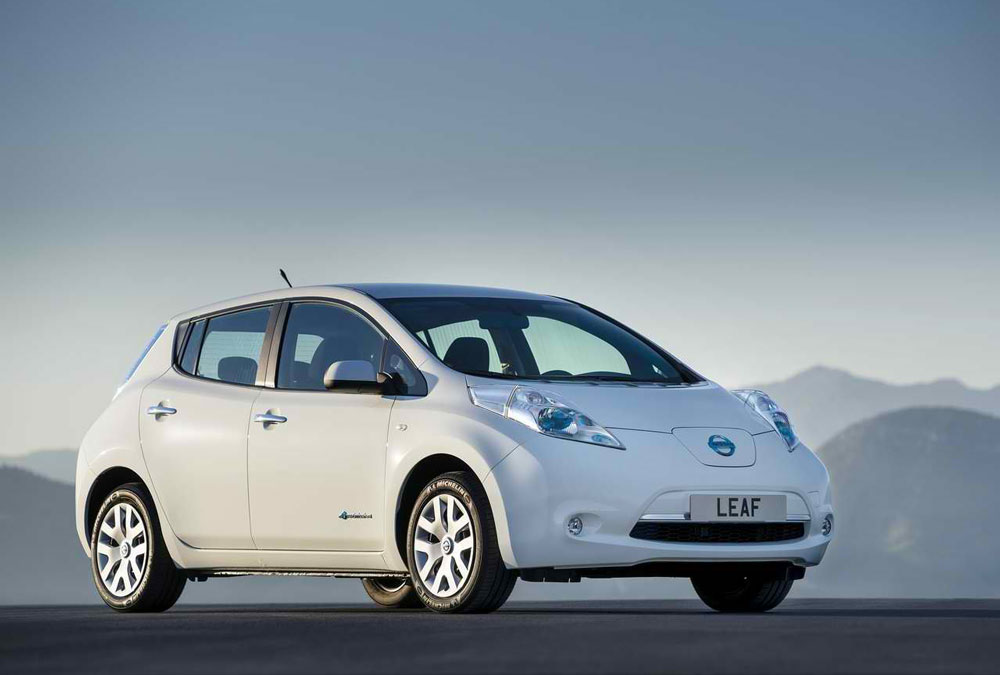 2014 Nissan Leaf White