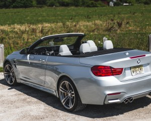 2015 BMW M4 Convertible Top Down Exterior Rear and Side