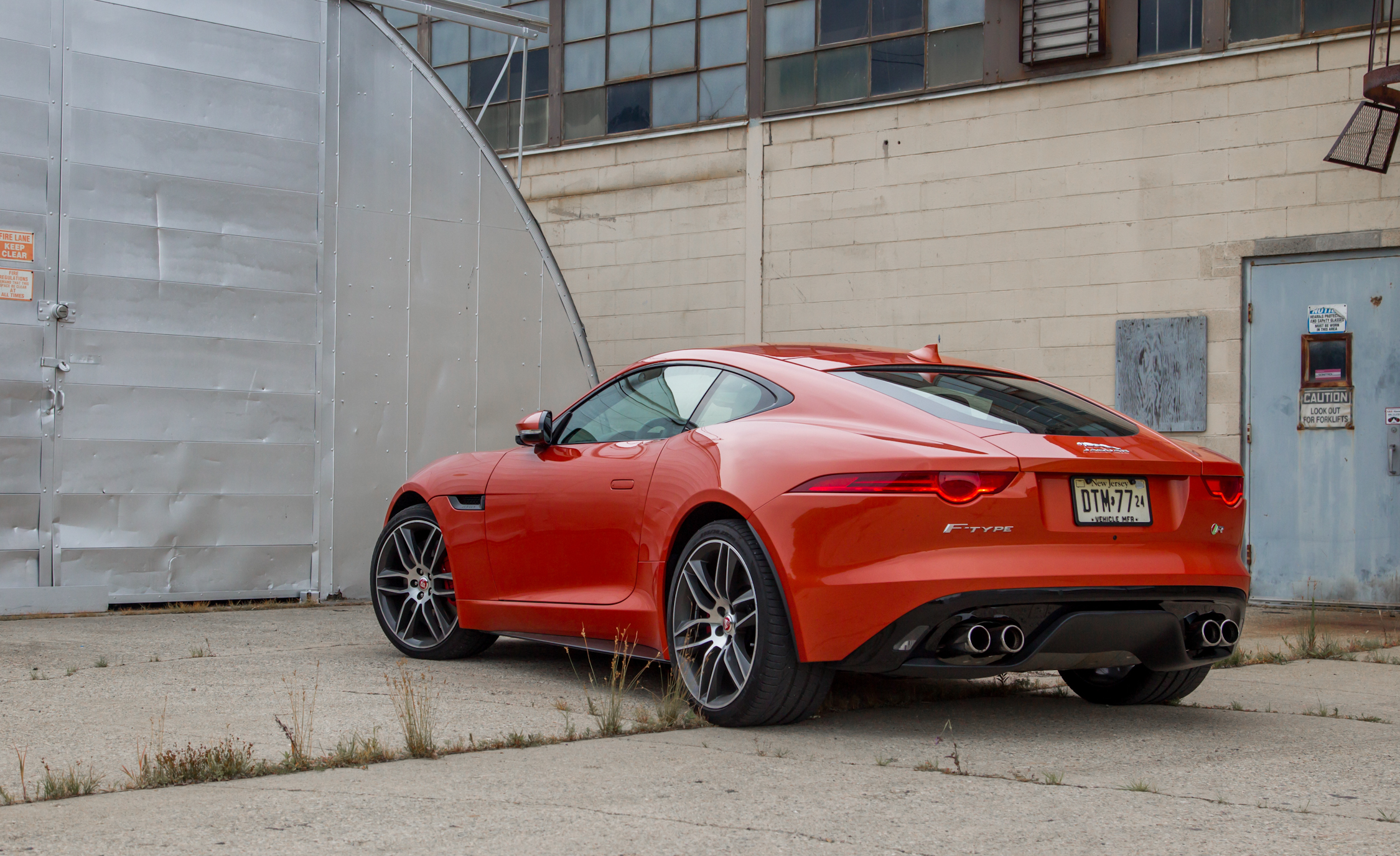 2015 Jaguar F-type R Coupe Exterior Rear and Side