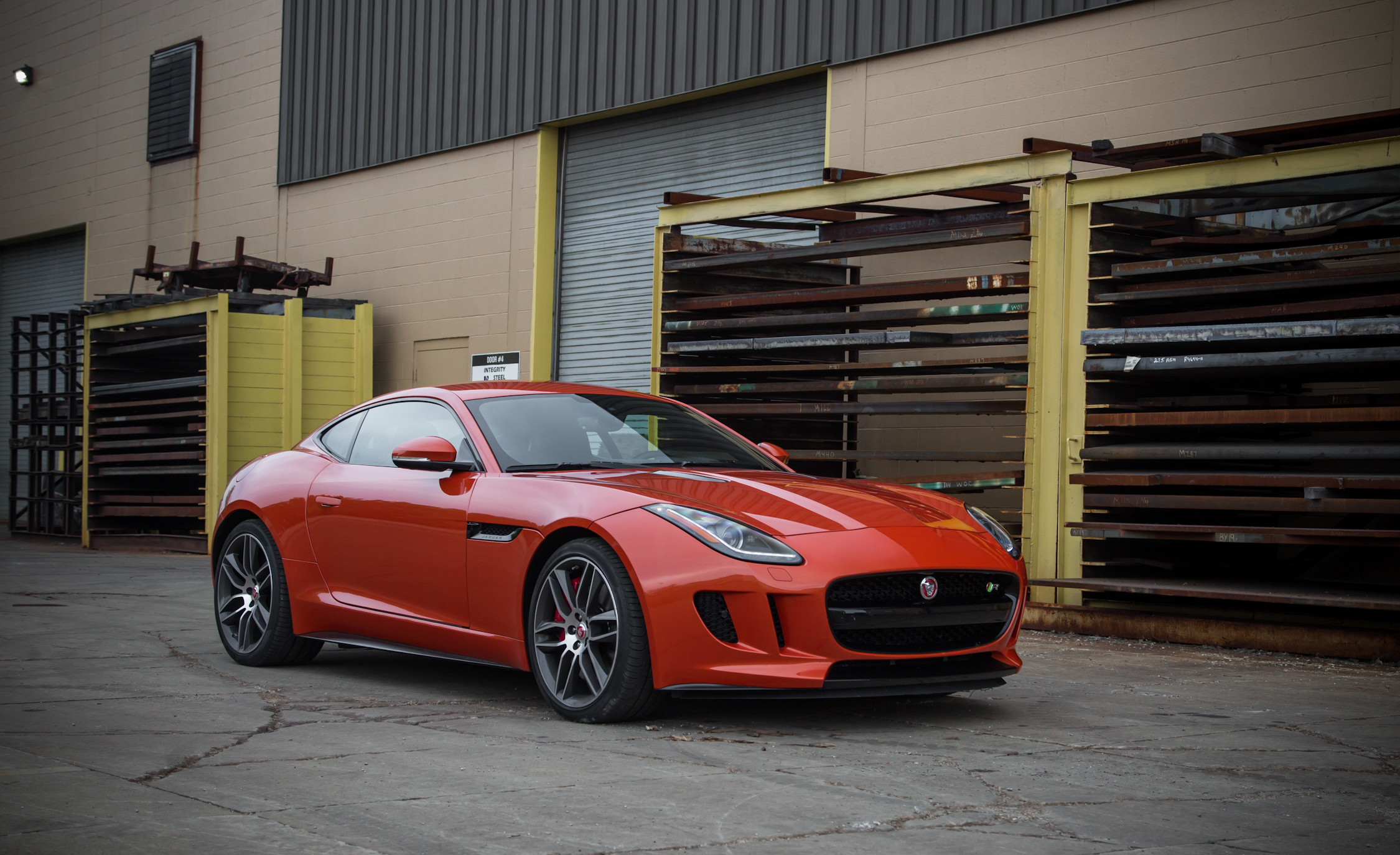 2015 Jaguar F-type R Coupe Exterior Side and Front