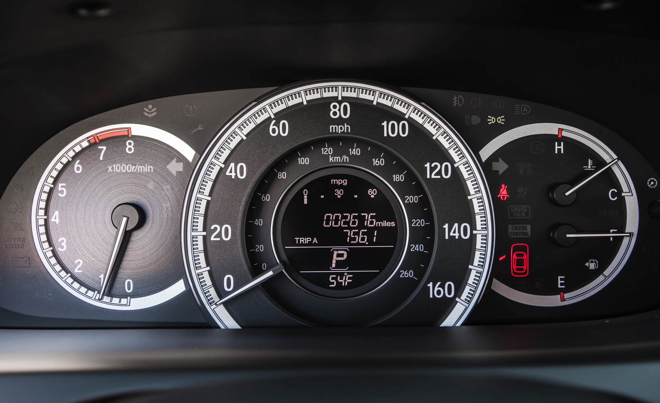 2016 Honda Accord EX Interior Speedometer