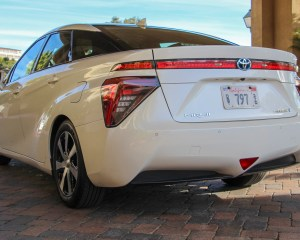2016 Toyota Mirai White Exterior Rear and Side