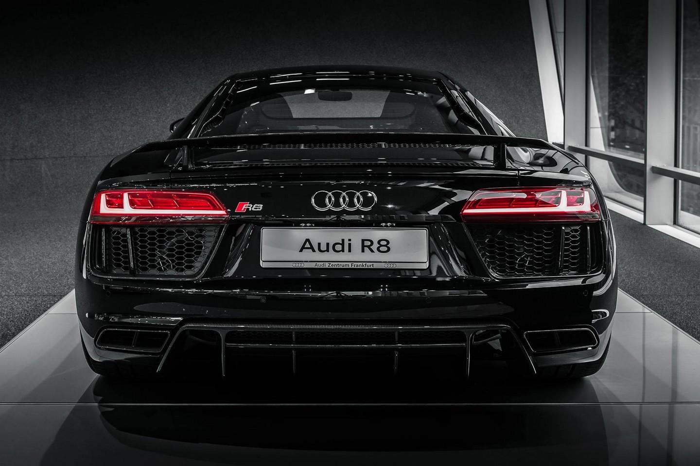 Audi R8 V10 Plus Mythos Black Metalic Rear Design