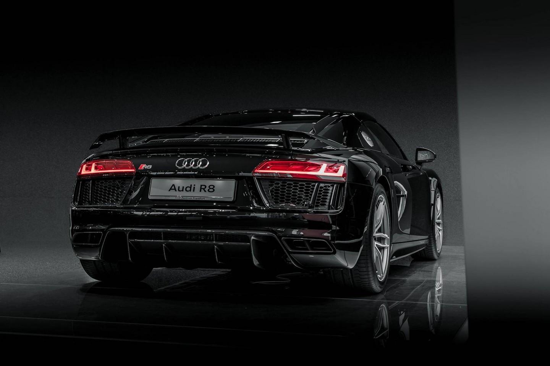 Audi R8 V10 Plus Mythos Black Metalic Rear Exterior