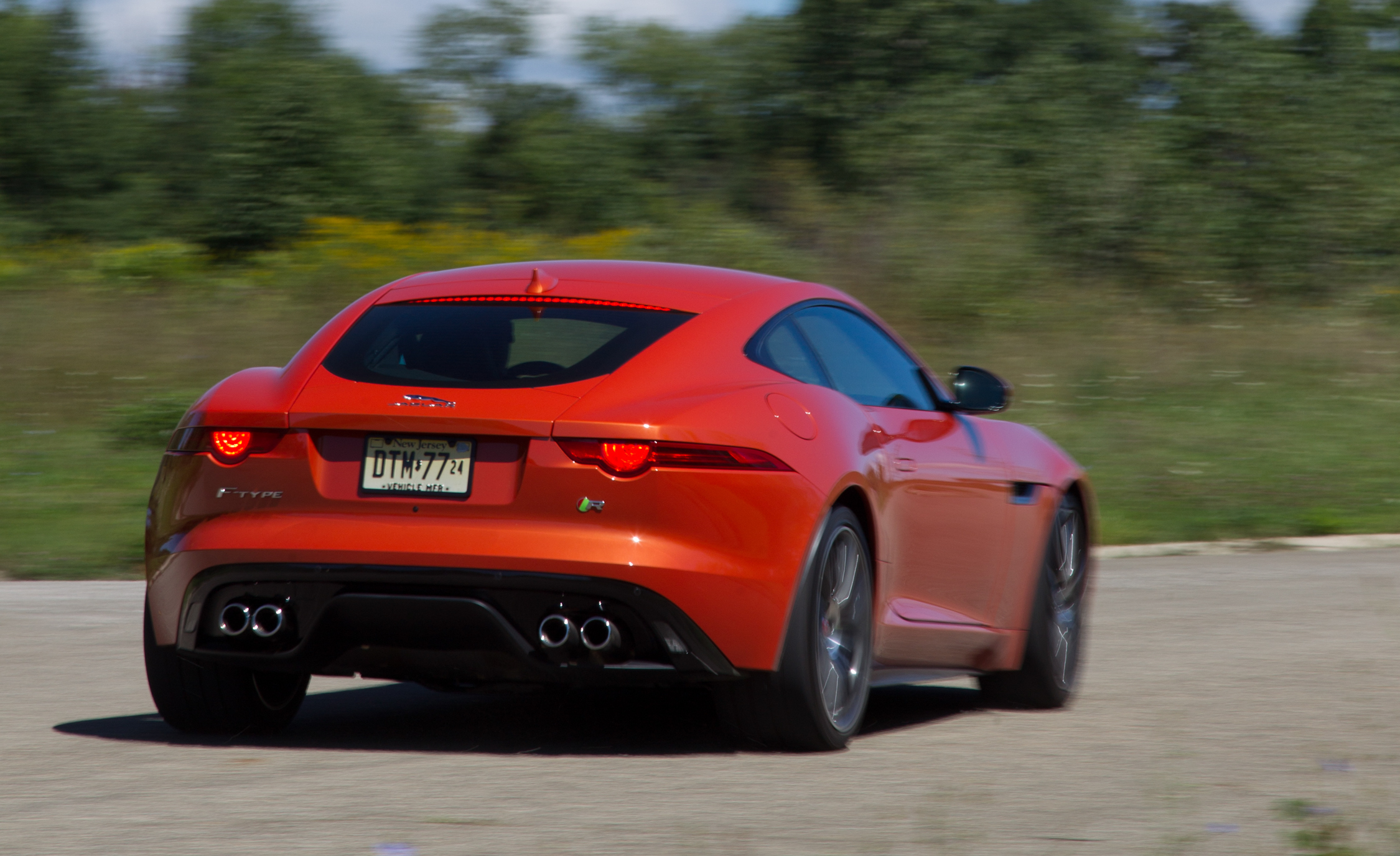 Jaguar F-type R Coupe 2015 Test Rear and Side View