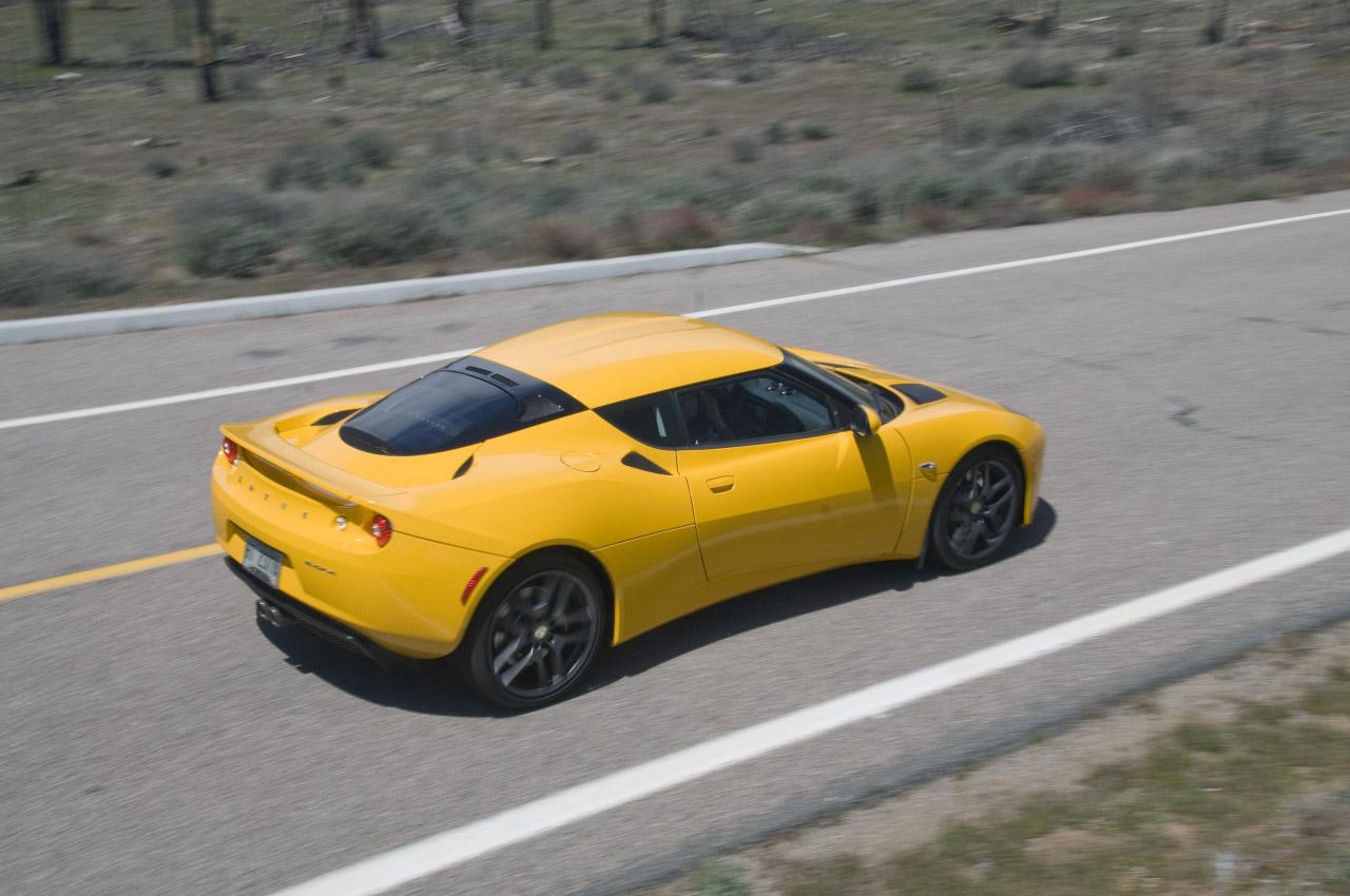 Top View: (Yellow) 2010 Lotus Evora