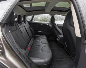 2015 Tesla Model S P85D Rear Passenger Seats Interior