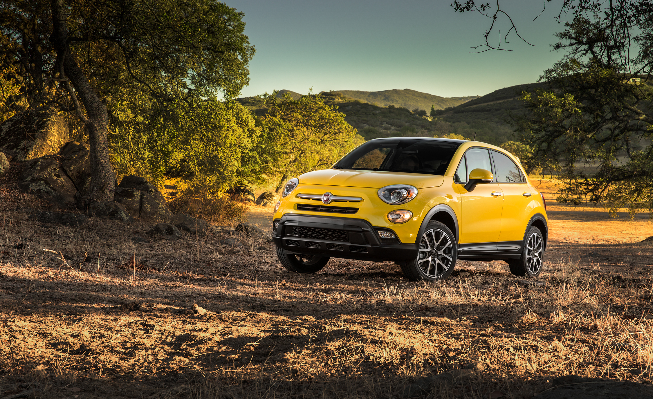 2016 Fiat 500X Trekking Plus Yellow Off Road Test