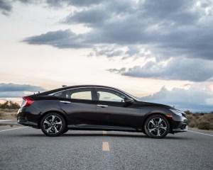 2016 Honda Civic Touring Sedan Black Side Exterior