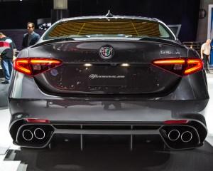 2017 Alfa Romeo Giulia Quadrifoglio Rear End Exterior