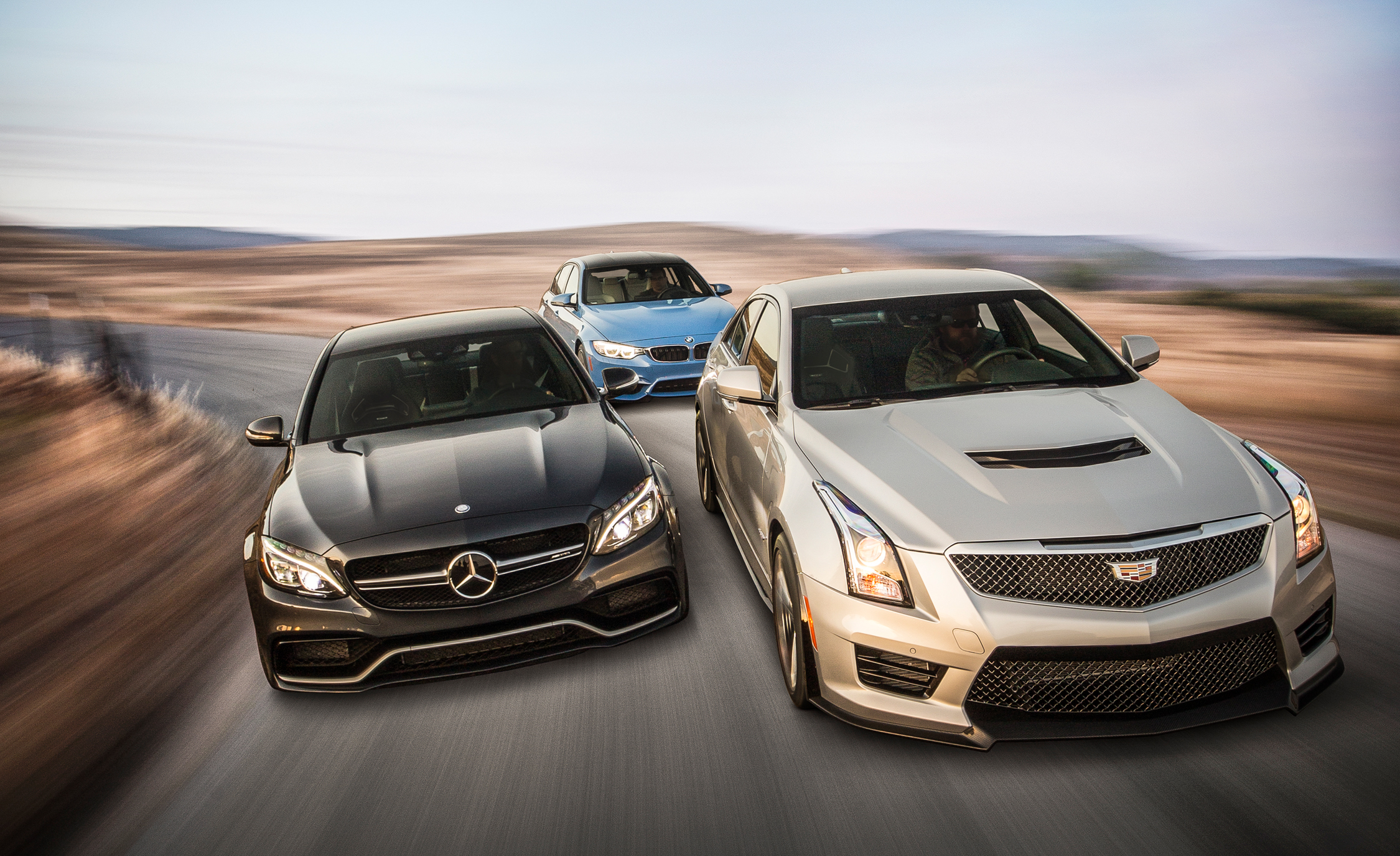 The Battle of 2015 BMW M3 vs. 2015 Mercedes-AMG C63 S, 2016 Cadillac ATS-V