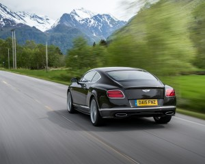 2016 Bentley Continental GT Speed Test Rear and Side View