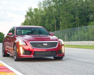 2016 Cadillac CTS-V Red Exterior Full Front and Side