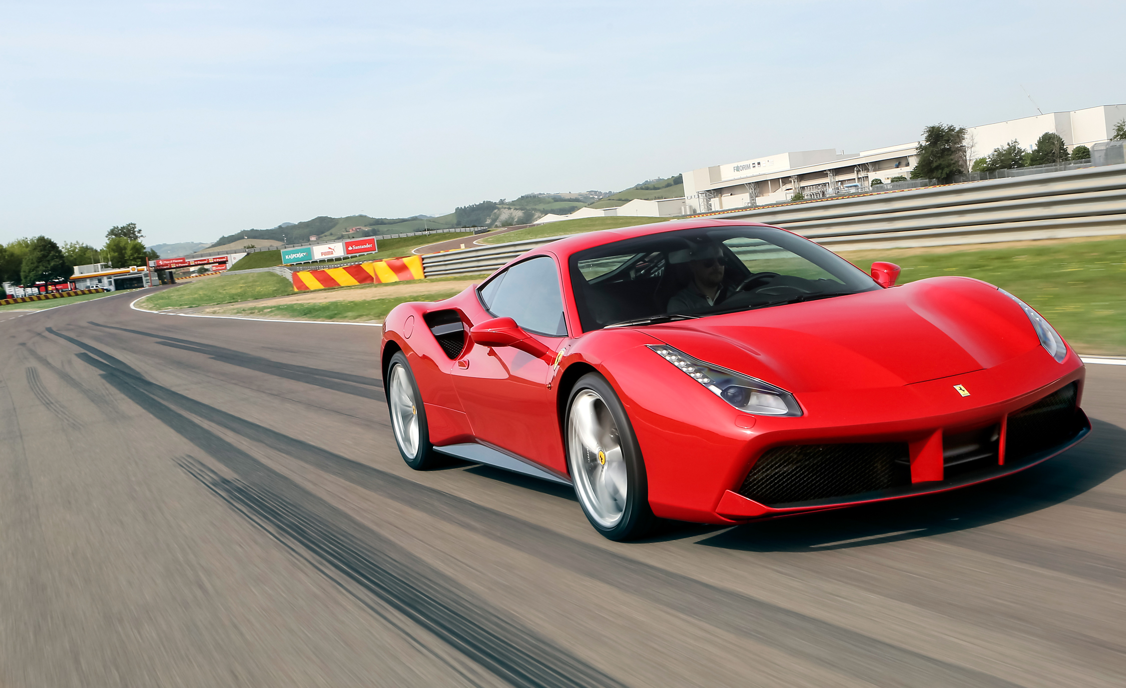 2016 Ferrari 488GTB Test Front and Side View