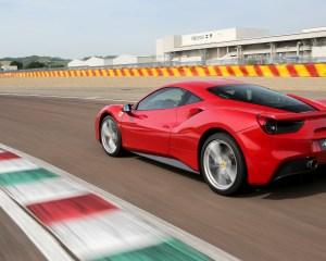 2016 Ferrari 488GTB Test Rear and Side View