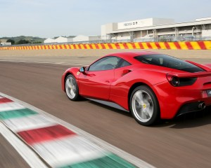 2016 Ferrari 488GTB Test Rear and Side View