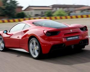 2016 Ferrari 488GTB Test Side and Rear View