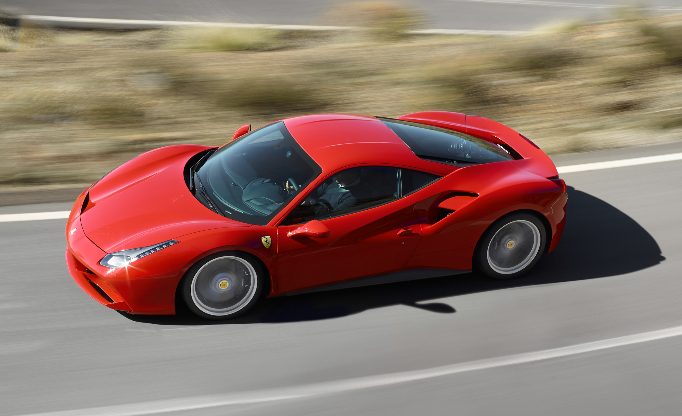 2016 Ferrari 488GTB Test Top View