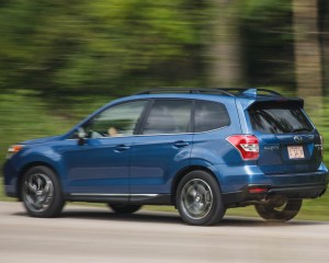 2016 Subaru Forester 2.0XT Touring Test Rear and Side View
