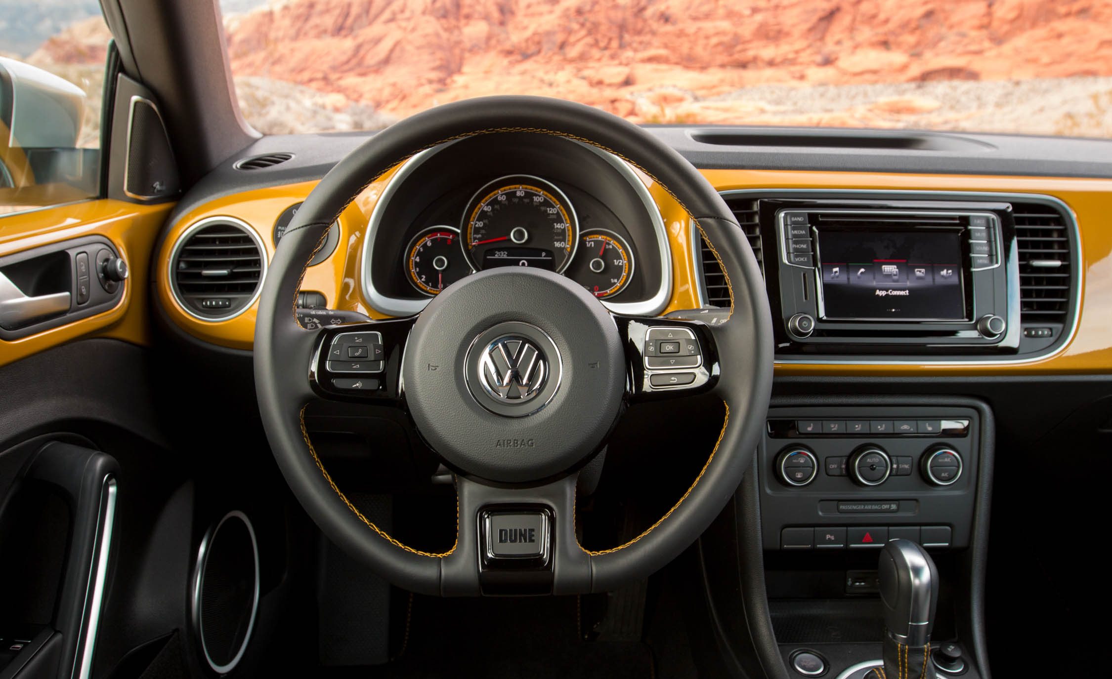 2016 Volkswagen Beetle Dune Interior Steering and Speedometer