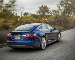 2015 Tesla Model S P90D Exterior Full Rear and Side
