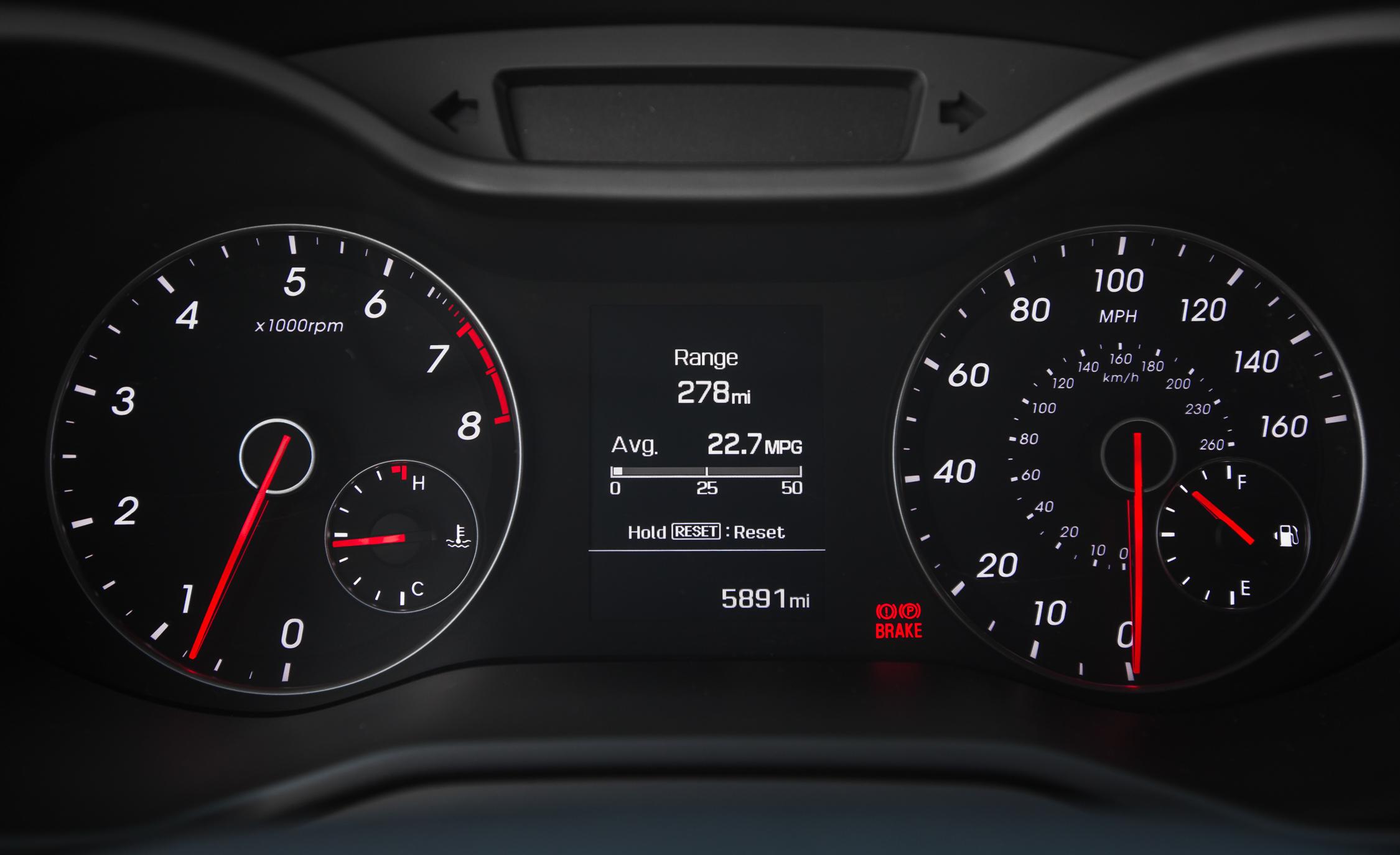 2016 Hyundai Veloster Turbo Rally Edition Interior Speedometer