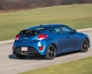 2016 Hyundai Veloster Turbo Rally Edition Test Drive Rear Side View