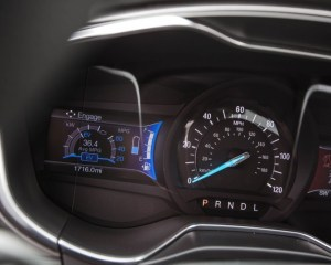 2017 Ford Fusion Hybrid Speedometer View