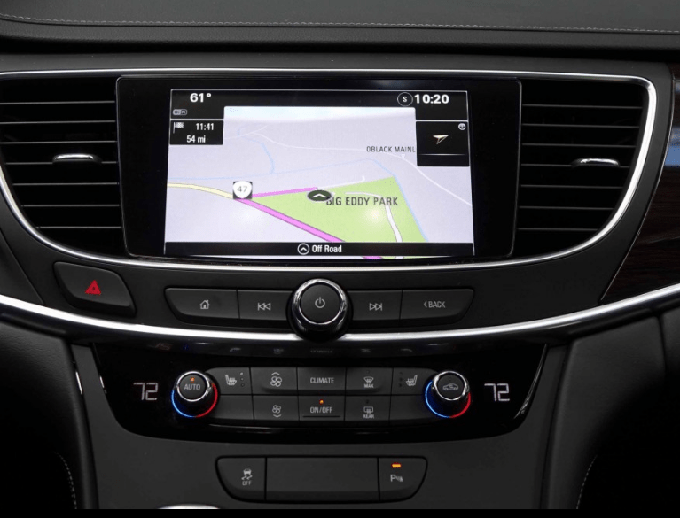2017 Buick Lacrosse Infotainment System View