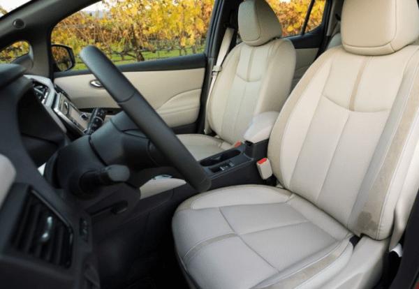 2018 Nissan leaf seats review