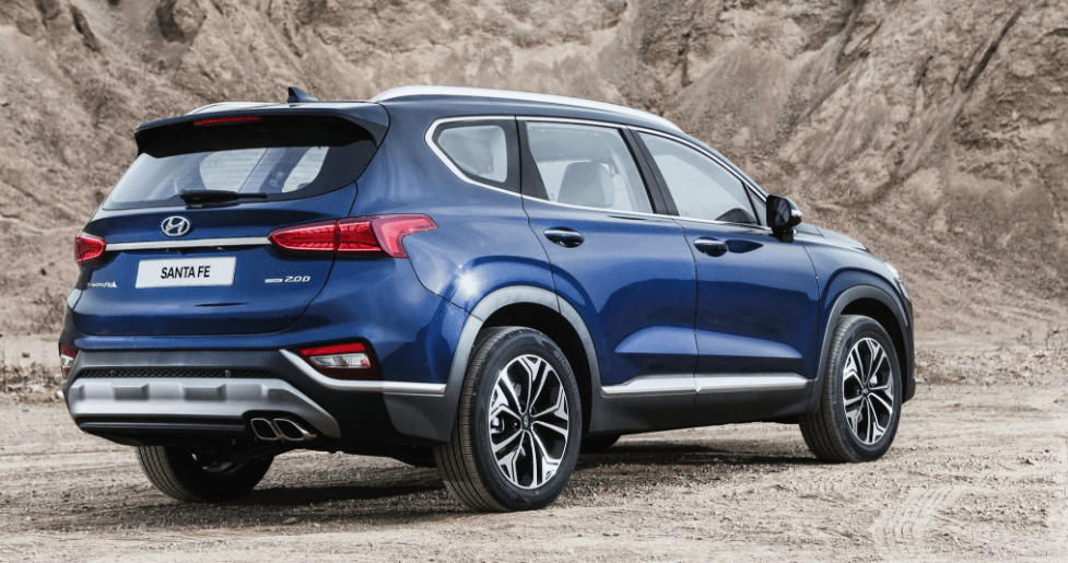 2019 Hyundai Santa Fe SUV Rear View