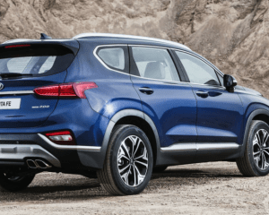 2019 Hyundai Santa Fe SUV Rear View