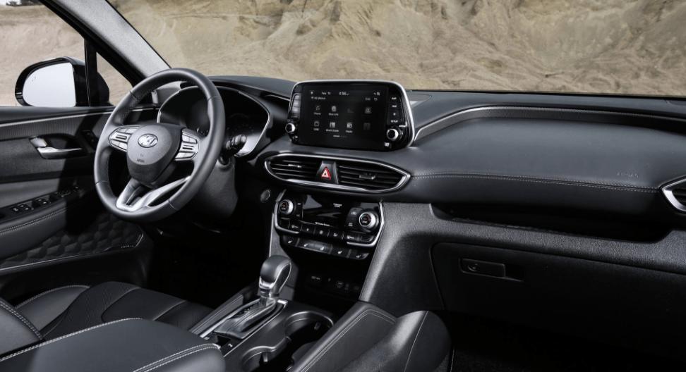 2019 Hyundai Santa Fe SUV Steering Dashboard View