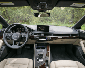 2018 Audi A5 Interior Steering Dashboard View