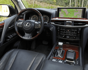 2018 Lexus LX570 Dashboard View