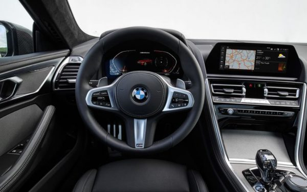 2019 BMW 850i steering review dashboard