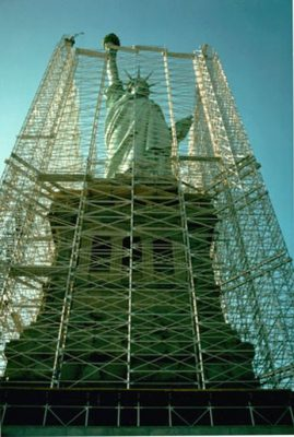 image of Statue of Liberty restoration project