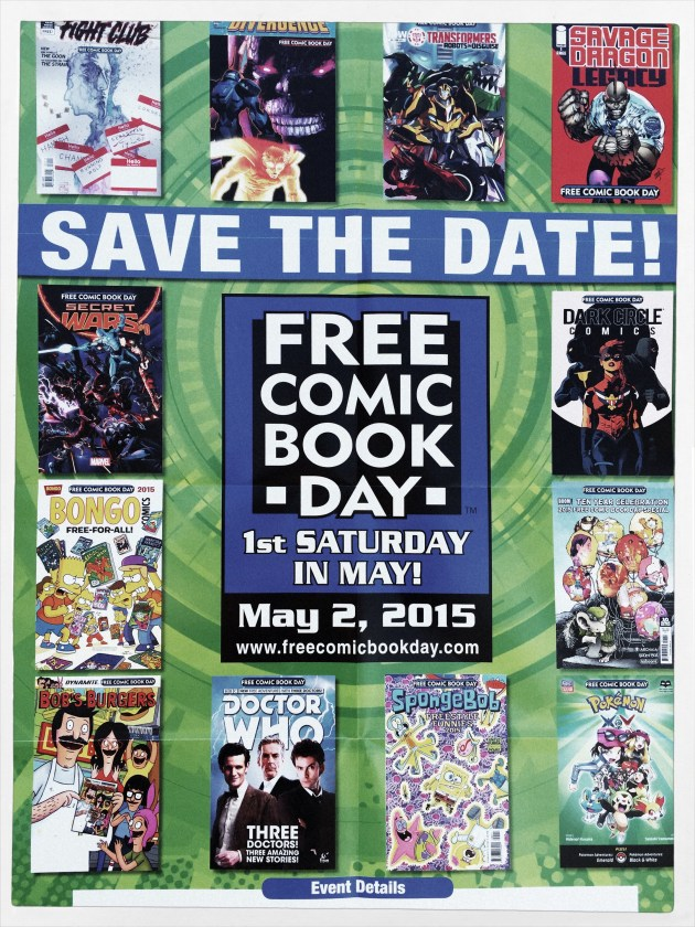 2015 Free Comic Book Day Poster