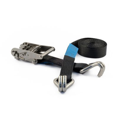 RLL35H-316SS - 35mm Stainless Steel Ratchet Strap with claw hooks