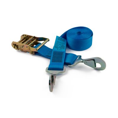 RLL50TSH - 50mm 2000kgs Ratchet Strap with twisted snap hooks
