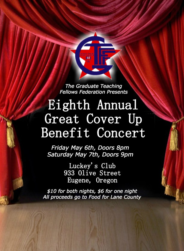 Great Cover Up Initial Flyer With Logo