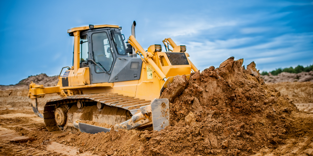 Excavating Dozer