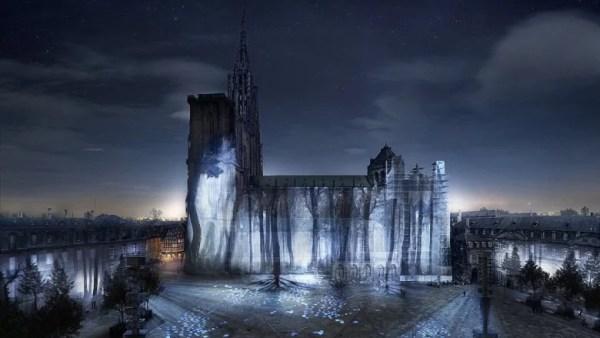 Illuminations de la cathédrale de Strasbourg 2017 : le Ballet des Ombres Heureuses