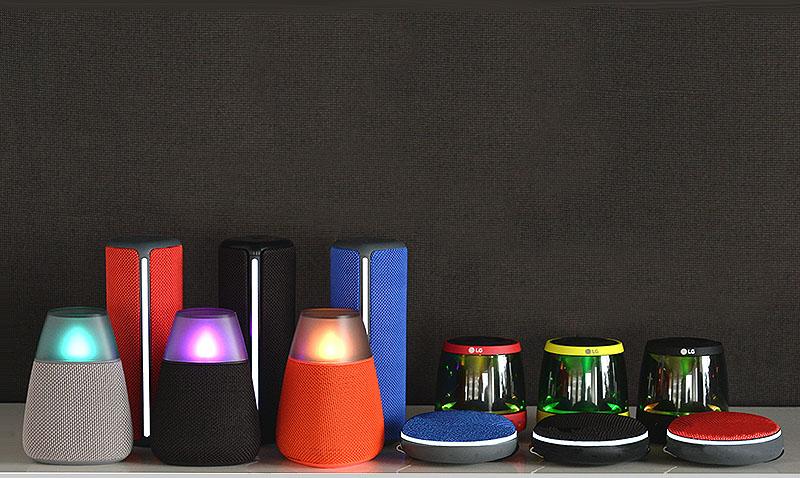 Altavoces Bluetooth de LG (PH1, PH2, PH3 y PH4).