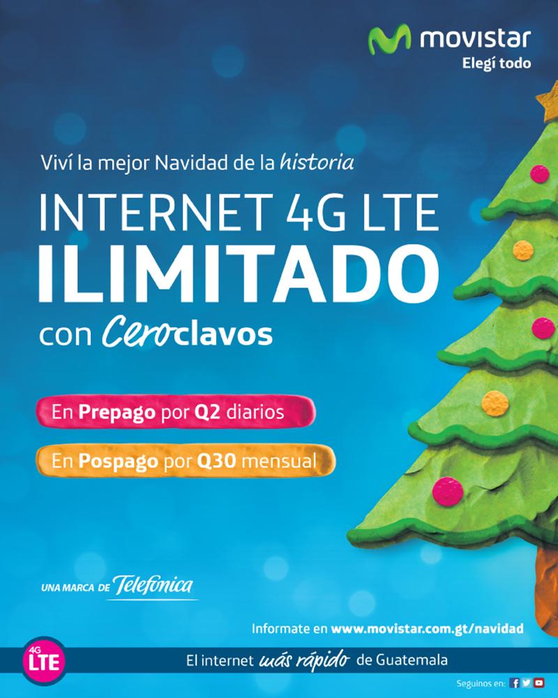 Navidad en Guatemala con Internet 4G LTE ilimitado
