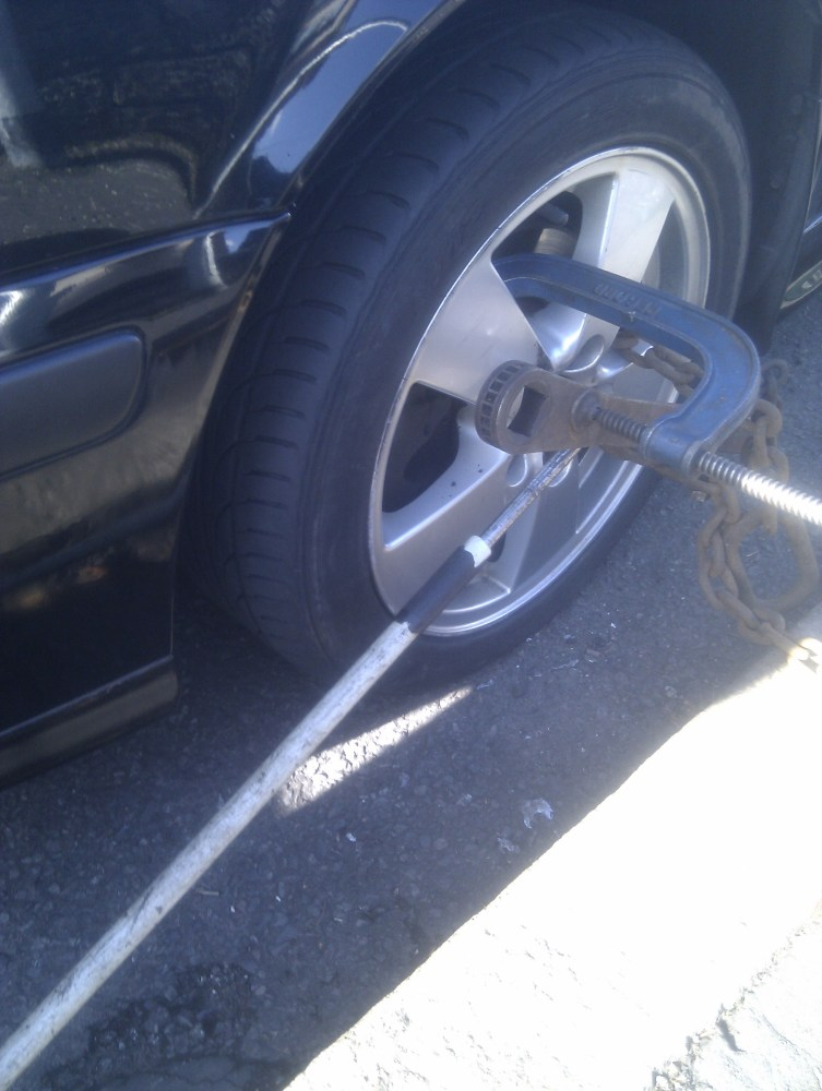 How to remove a stripped anti theft wheel bolt or stud (2/5)
